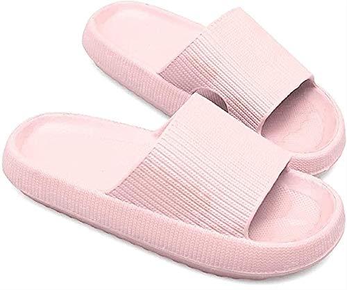Slippers Slippers Slippers Quick Seco antideslizante Grueso Grueso Plataforma Suelta por almohada Súper suave almohada Diapositivas para mujeres y hombres, suave Cómoda Plataforma EVA Zapatos de punta
