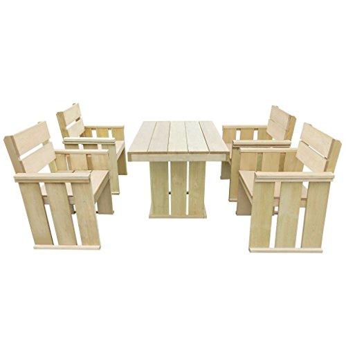 Furnituredeals Set de Bar pour extérieur 110 x 75 x 74 cm en bois de pin imprégné.Ce lot de haute qualité sont robuste et résistant.Idéal pour jardins et extérieur