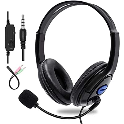 Sumcoo 3.5mm Computer Headset with Microphone, ...