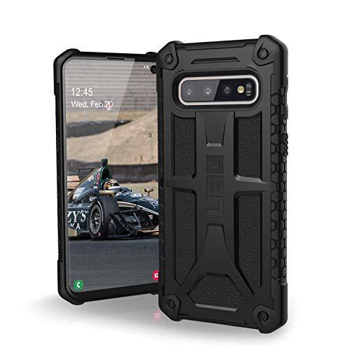 Urban Armor Gear Monarch per Samsung Galaxy S10 Custodia Protettiva Cover con Standard Militare Americano Case [Compatibile con Il Qi Wireless, Pelle] - Nero