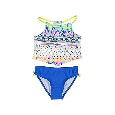 Tommy Bahama Little Girls' Two-Piece Bikini Swimsuit Bathing Suit, Purple Multi Geo, 5