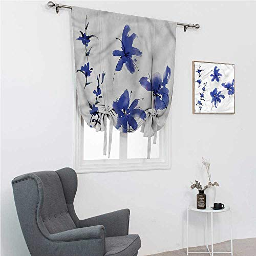 Room Darkening Curtain Traditional Roman Blinds for Window Oriental Ancient Art 48' Wide by 64' Long