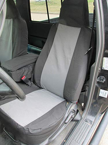 Durafit Seat Covers F396-X1/X7 for 2004-2005 Ford Ranger Pickup 60/40 Split Bench Seat Custom Seat Covers,with Opening Console. Black/Gray Automotive Twill