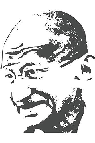 Mahatma Gandhi - achieve your goals, perfect 120 lined pages #1 (Mohandas Gandhi Notebooks)