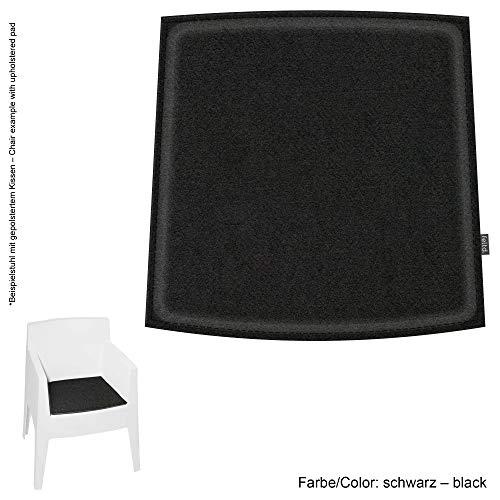 Feltd. Eco Filz Kissen geeignet für Driade Toy - 29 Farben - optional inkl. Antirutsch und gepolstert (Oberseite - schwarz)
