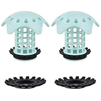 Drian Hair Catcher Bathroom Sink Drain Strainer Shower Drain Hair Trap Bathtub Drain Protector Pack of 2