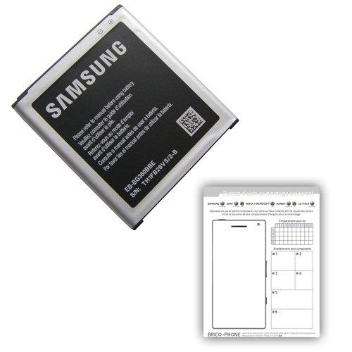 Batterie pour Samsung Galaxy Core Prime/Core Prime Duos/Core Prime VE/J2 Produit d'origine pour modèles SM-G360/SM-G360F/SM-G361F/J200H
