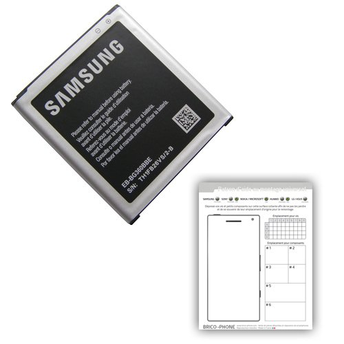 Batería para Samsung Galaxy Core Prime/Core Prime Duos/Core Prime VE/J2producto original para modelos SM-G360/SM-G360F/SM-G361F/J200H