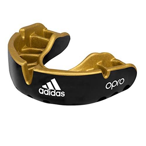 adidas Unisex– Erwachsene OPRO Gen4 Edition Mundschutz, schwarz/Gold, Senior