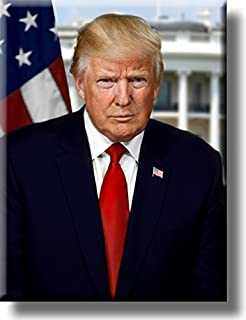 President Donald Trump Official Portrait Picture on Acrylic Wall Art Décor, Ready to Hang!