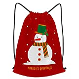 fudin Impermeable Bolsa de Cuerdas Saco de Gimnasio muñeco de nieve diseño de personajes de dibujos ...