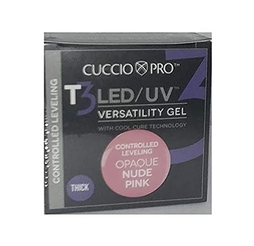 貢献列車ねじれCuccio Pro - T3 LED/UV Gel - Controlled Leveling - Opaque Nude Pink - 1 oz / 28 g