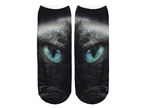 Unbekannt Socken bunt mit lustigen Motiven Print Socken Motivsocken Damen Herren ALSINO, Variante wählen:SO-L079 Katzenauge
