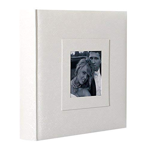 LCD Album Photo Traditionnel Mariage 100 Pages Blanches (Blanc)