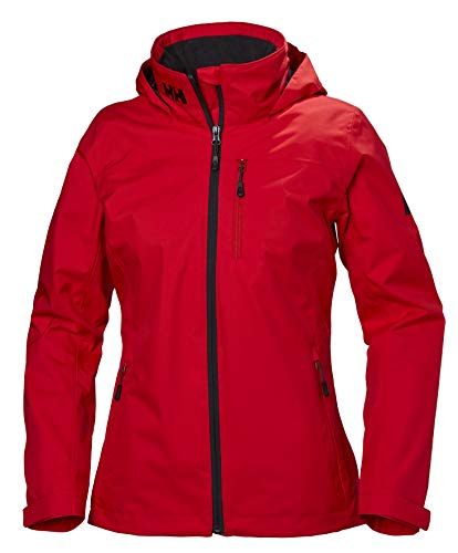 Helly Hansen Womens Hooded Crew Mid Layer Jacket Alert Red 33891 Giacca Donna