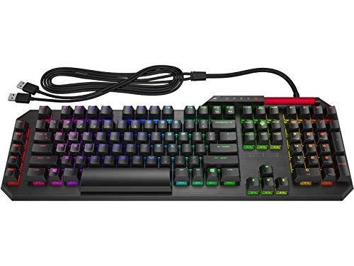 HP Omen Sequencer - Teclado para Gaming (16,8 Millones de Colores RGB, Modo Gaming, 100% Anti-ghosting y N-Key Rollover) Negro