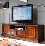 Casa Padrino cómoda Biedermeier TV 200 x 50 x H 61 cm - aparador Mueble de TV Muebles de Madera marrón