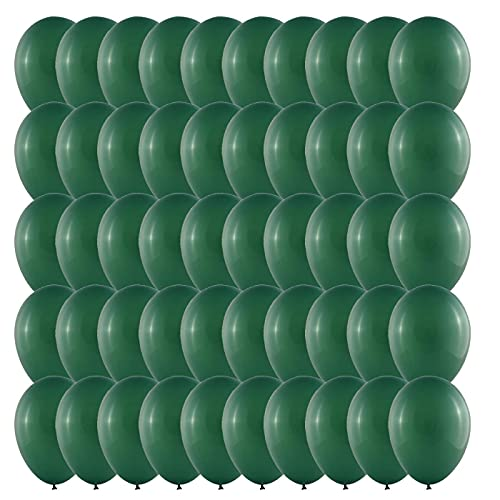 50 Piezas Multicolores Globos Verde-Botellas Globos de Látex 30cm 12 Pulgadas Decohelium para Bodas, Fiestas de Cumpleaños y Decoración(Verde-Botellas)