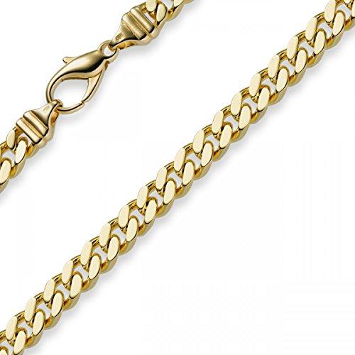 6mm Panzerarmband Armband Armkette 585 Gold Gelbgold 21cm Herren Goldarmband