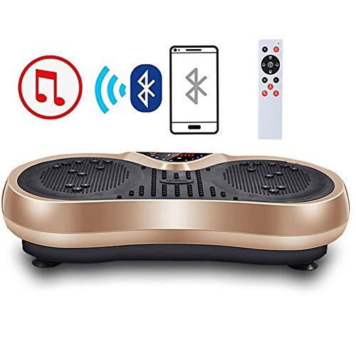 FAIRYPIE Placa Vibratoria, Plataforma Vibratoria, 99 Levels, Plataformas Vibración para Fitness Y Pérdida De Peso En Casa, Tener Altavoz Bluetooth, Carga Máxima De 100Kgs,Oro