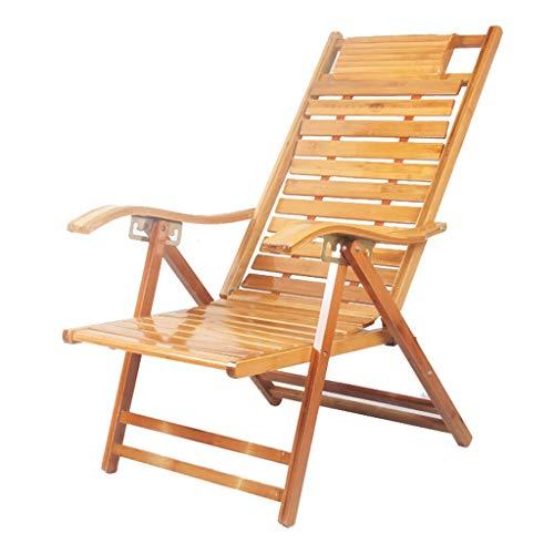 Chaise Longue Pliante Chaise Longue Fauteuil Relax Fauteuil réglable à Dossier Haut Fauteuil de Repos pour Personnes âgées Fauteuil Paresseux (Couleur : B)