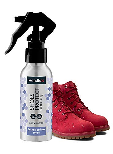 Hendlex Nano Suede Protector Spray for Shoes Waterproof 3.38 oz Nubuck Shoes, Sneakers, Purses