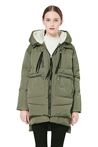 Orolay Women's Thickened Down Jacket Green 2XS
