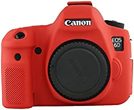 ANYI DIANZI Silicone Cover for Canon 6D (red)