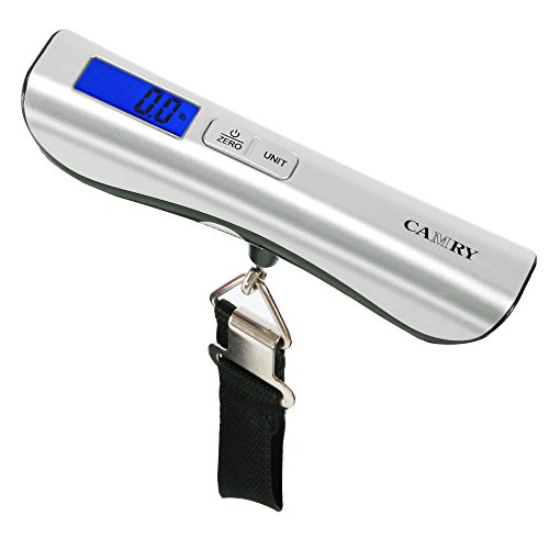 Camry Luggage Scale 110 Lbs Capacity Large and Blue Backlight LCD Display