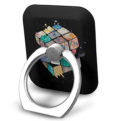 Colorido Rubik'S Cube Teléfono titular soporte ajustable para teléfono móvil Unisex teléfono anillo titular multifunción teléfono soporte plegable 360 rotación titular móvil