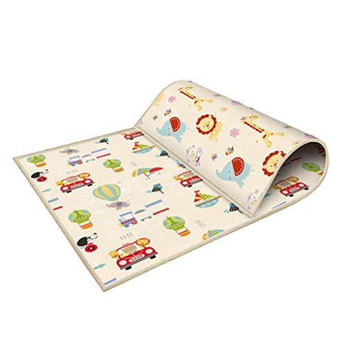 Spielmatte Krabbelmatte für Babys, Tanzmatte Faltbarer/doppelseitig, Baby Teppich Spielteppich Krabbelmatte Ungiftig -Schaumboden rutschfest Beidseitig Tragbar Wasserdicht für Innen