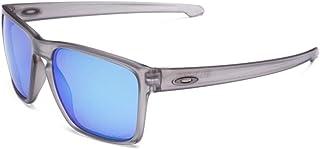 1e88ed3b5 Oakley SLIVER XL OO9341L 03 Cinza Fosco Translúcido Lente Polarizada Azul  Safira Iridium Tam 57