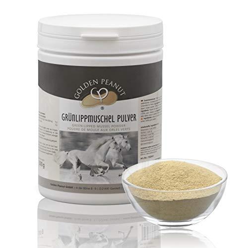 Golden Peanut Grünlippmuschelpulver Neuseeland Muschel Extrakt Premium Qualität für Pferde 500g Dose