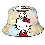 Dibujos animados juguete pescador sombrero unisex impreso doble cara Folle Buet sombrero, sin deformación Disfruta del aire libre en comodidad y estilo Bla