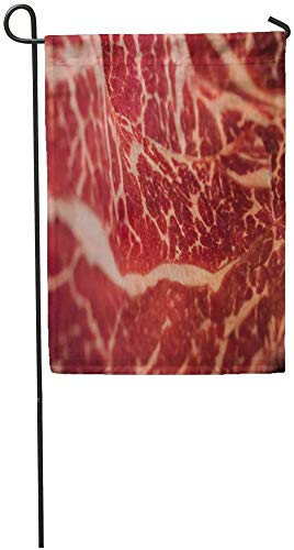 Co5675do Garden Flags Seasonal Flag Funny Flag 12x18 Inches Red Beefbackground Marbling Japanese...