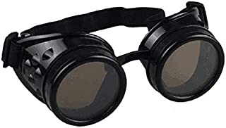 syart Goggles Steampunk Glasses Vintage Retro Weld Punk Gothic Sunglasses Gogglesviation Biker Motorcycle Riding Windproof Steampunk Sunglasses Goggles Party