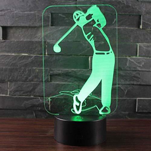 GUANGYING Nachtlichter Lampe des Golf-Thema-3d führte Farbänderungs-Noten-Stimmungs-Lampen-Weihnachtsgeschenk des Nachtlicht-7