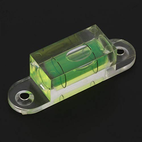 Burbuja de nivel útil, Mini burbuja de nivel de burbuja, con orificios de montaje Resistente para báscula electrónica Otros equipos Plataforma de cámara Calibración horizontal de la balanza