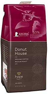 Hope Products Coffee, DONUT HOUSE, 12 oz Ground Coffee, 50% of Profits go to St. Jude Children's Research Hospital