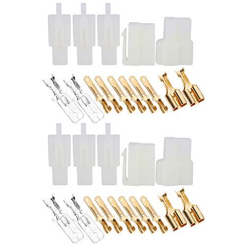 Alomejor1 30PCS Conectores de Cable eléctrico Terminales de Cable de Enchufe de...