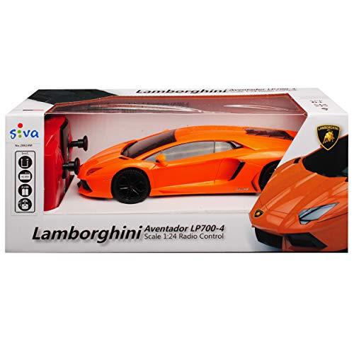 Siva Lamborgihini Aventador LP700-4 Coupe Orange 2,4 GHz RC Funkauto mit Beleuchtung und Akkupack 1/24 Modell Auto