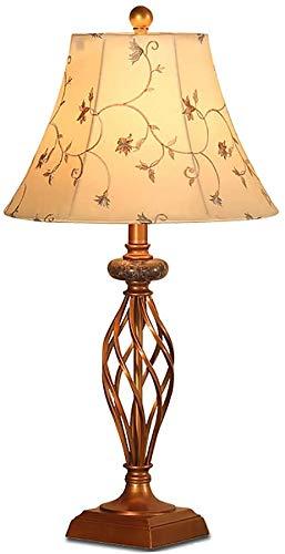 HKAFD Lámparas de Mesa para la lámpara de Mesa de Sala de Estar, lámpara de Mesa Decorativa Retro Europea, lámpara de Noche, lámpara, lámpara de lámpara de Cama