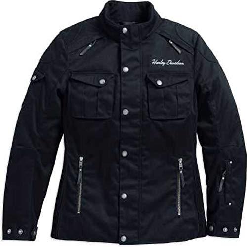 HARLEY-DAVIDSON Damen Messenger Textile Riding Jacke Motorradjacke Protektoren, L