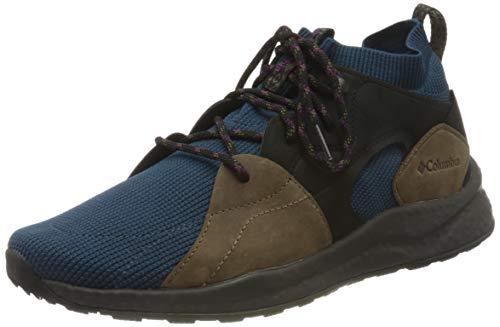 Columbia SH/FT OUTDRY MID Zapatillas de Senderismo, para Hombre, Azul (Petrol Blue, Wild Iris), 44.5