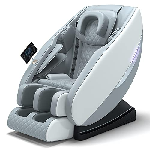 N/A Shiatsu Massagesessel,Luxus Ganzkörper Multifunktionsgerät für ältere Menschen Elektrischer Fußwickel mit großer Kappe Deluxe Zero Gravty Massagestuhl für Büro zu Hause