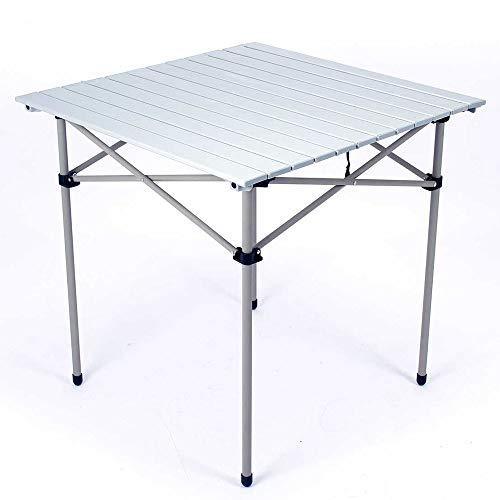 MQQ Aluminium Klapptische Camping Roll Up Tragbare Platz Tisch im Freien wandernden Picknick, 28