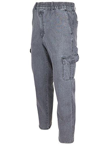 SOUNON Herren Jeans, Cargojeans, Schlupfhose Schlupfjeans, Stretchjeans Anthrazit, Groesse: XL