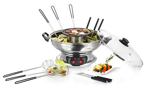 Emerio HPS-121313 elektrischer Hot Pot Set, Edelstahl