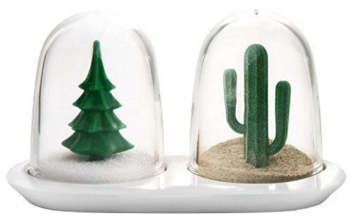 Qualy Winter Summer Salt & Pepper Shaker Set