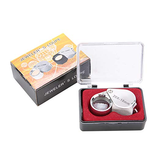 Alucy Portable Handheld 20X Magnifier Magnifying Glass Jewelry Watches Tool for Painting, Reading, Crafts, Sewing, Needlework, Beading, Electronic Repair, Jewelry Equipment